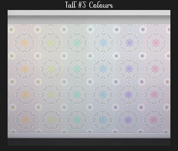 Floral Wallpaper by Simmiller from Mod The Sims