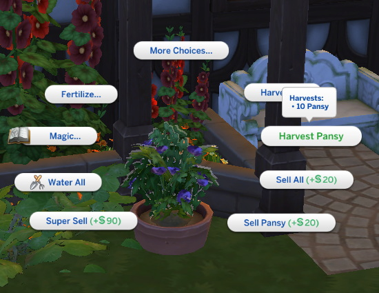 Nasturtium And Pansy New Custom Harvestables by RobinKLocksley from Mod The Sims