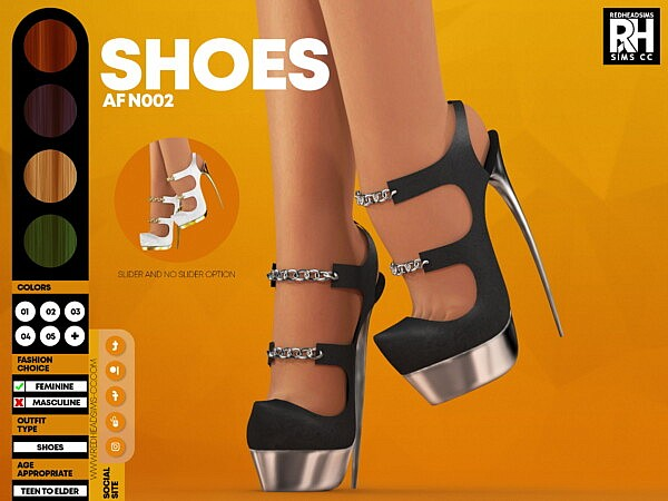 AF Shoes N002 from Red Head Sims