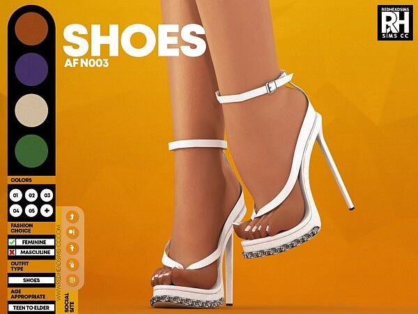 AF Shoes N003 from Red Head Sims