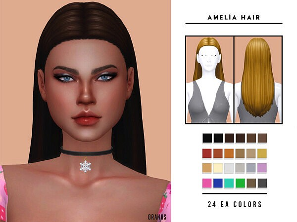 Amelia Hair by OranosTR from TSR