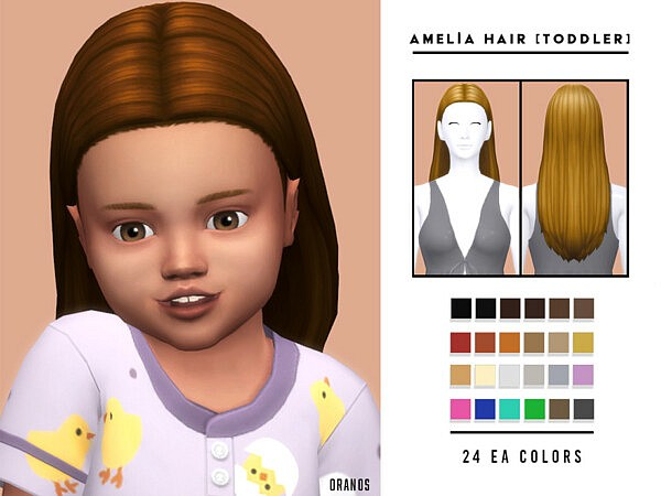 Amelia Hair TG by OranosTR from TSR
