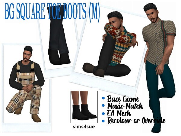 BG Square Toe Boots from Sims 4 Sue