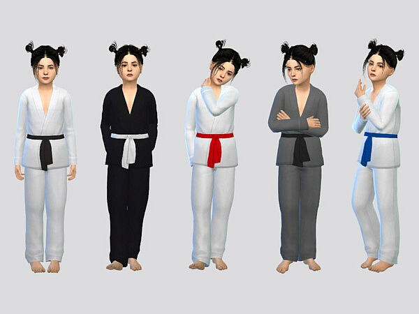 Basic Karate Uniform Girls by McLayneSims from TSR