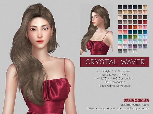 CRYSTAL WAVER HAIR from Obsidian Sims