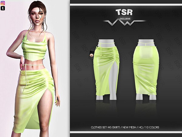 Clothes Set 145 Skirt by busra tr from TSR
