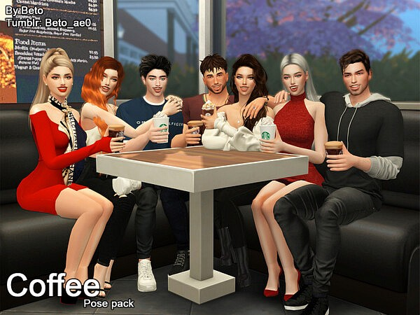 Coffee Pose pack by Beto ae0 from TSR