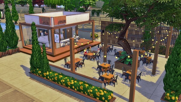 Cozy Cafe from Sims 3 by Mulena