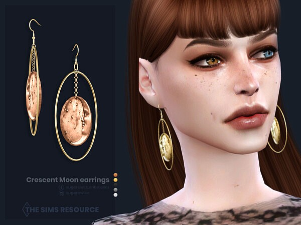 Crescent Moon earrings by sugar owl from TSR
