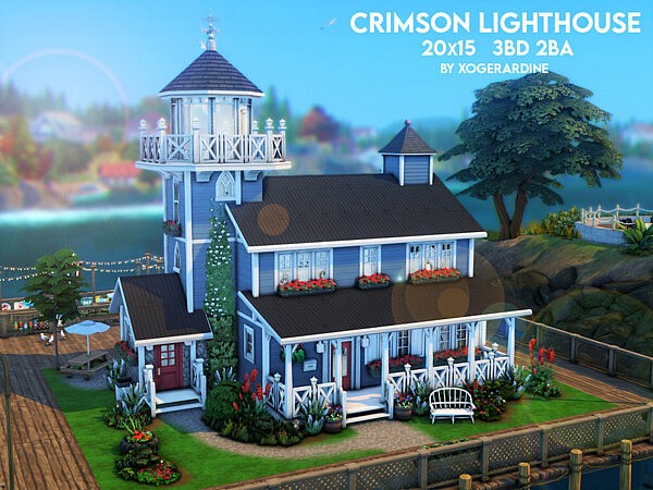 Crimson Lighthouse by xogerardine from TSR