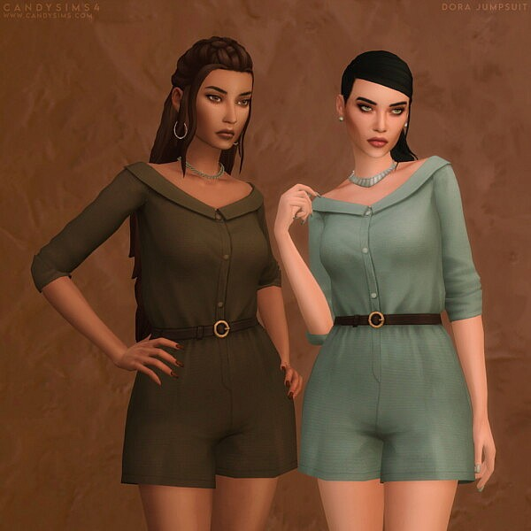 Dora Jumpsuit from Candy Sims 4
