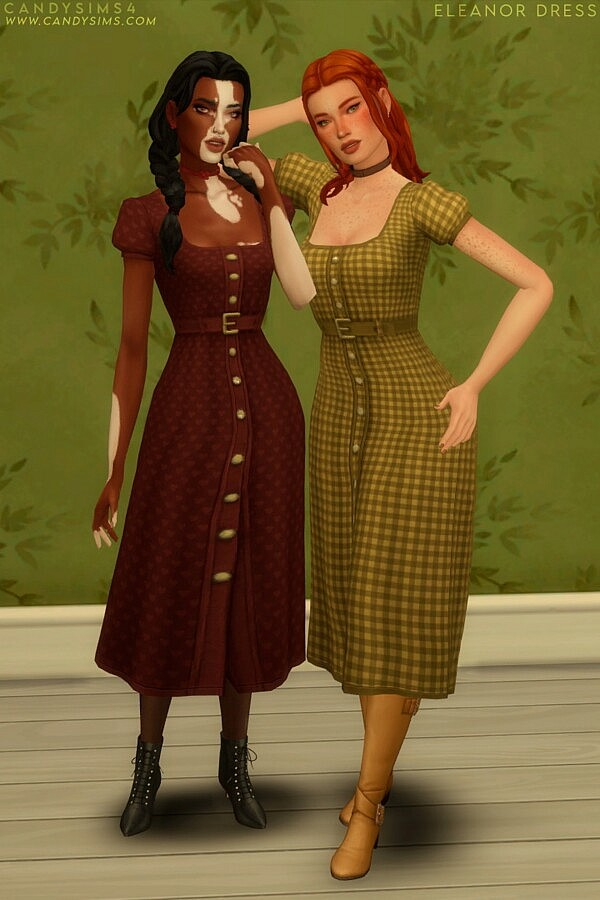 Eleanor Dress from Candy Sims 4