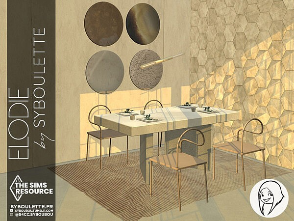 Elodie dining set by Syboubou from TSR