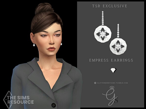 Empress Earrings by Glitterberryfly from TSR
