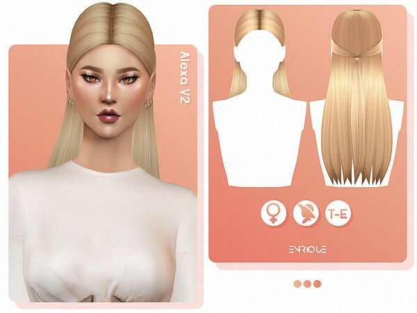 Alexa Hairstyle V2 by EnriqueS4 from TSR