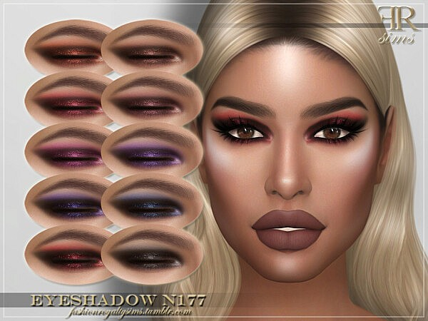 Eyeshadow N177 by FashionRoyaltySims from TSR