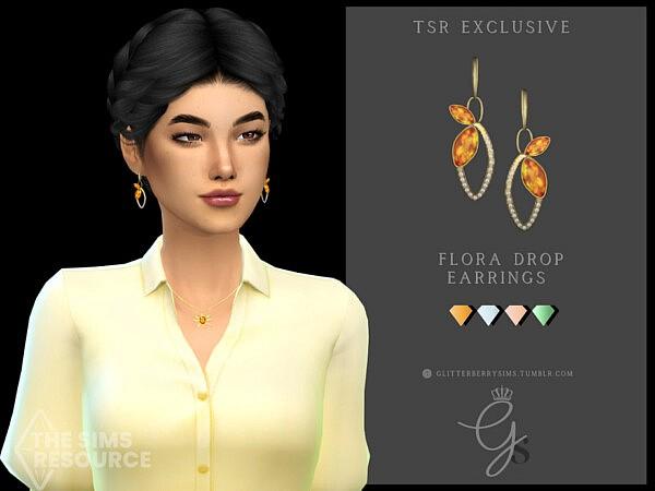 Flora Drop Earrings by Glitterberryfly from TSR