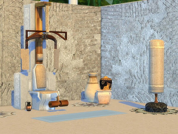 Hercules Gym set from KyriaTs Sims 4 World