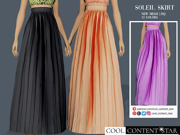 Long Soleil Skirt by sims2fanbg from TSR