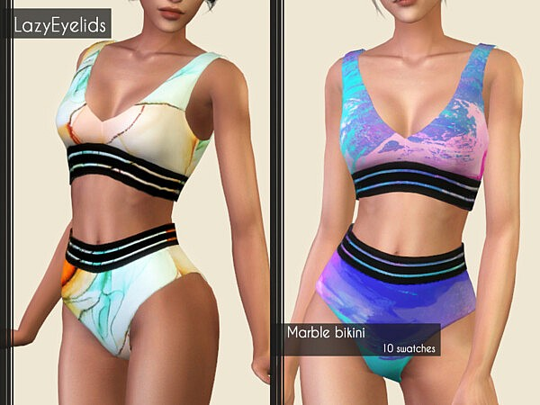 Marble Swimsuit from LumySims