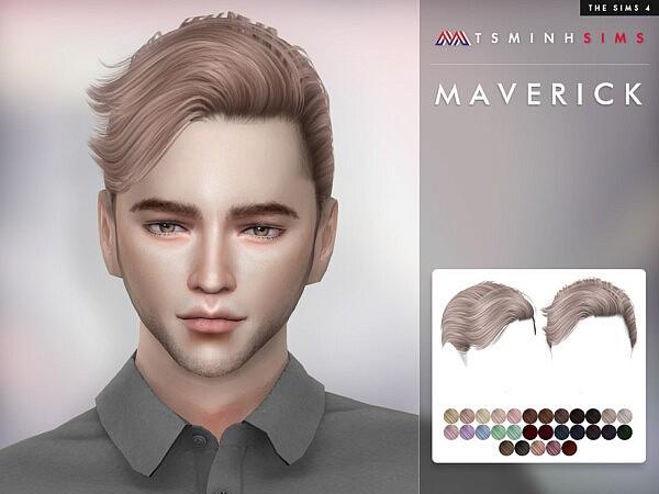 Maverick Hair by TsminhSims from TSR