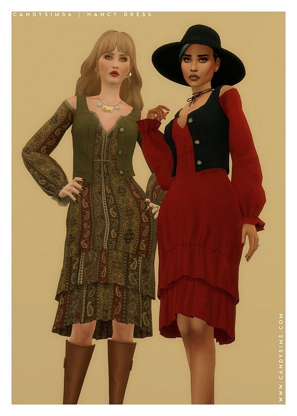 Nancy Dress from Candy Sims 4