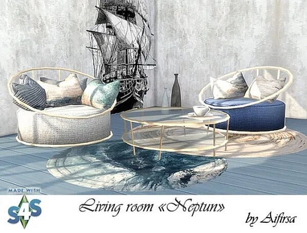 Neptun Living Room from Aifirsa Sims