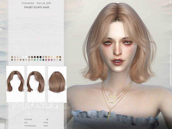 TO0726 Short fluffy hair by wingssims from TSR