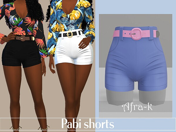 Pabi shorts by akaysims from TSR