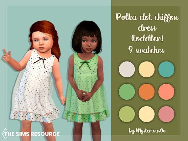 Polka dot chiffon dress TG by MysteriousOo from TSR