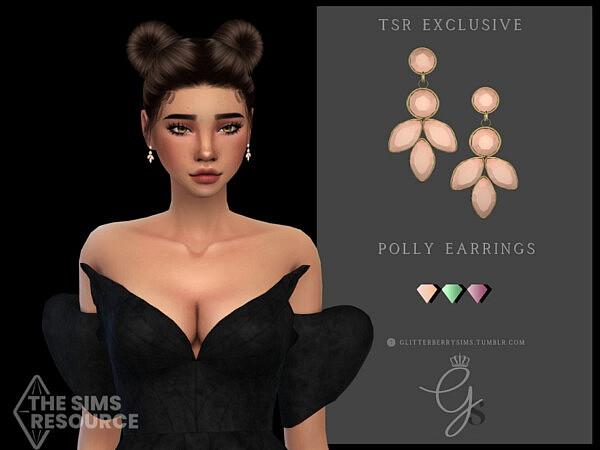 Polly Earrings by Glitterberryfly from TSR