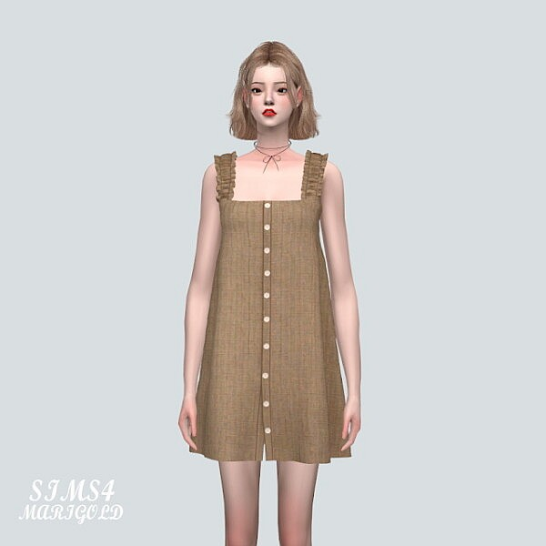 SS 3 Button Mini Dress from SIMS4 Marigold