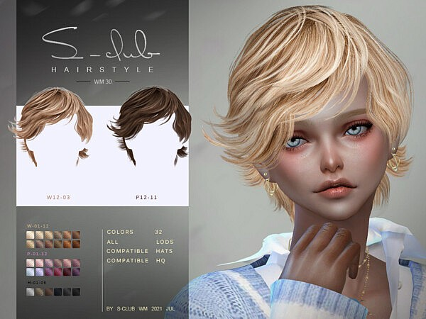 Short curls hair by S Club from TSR