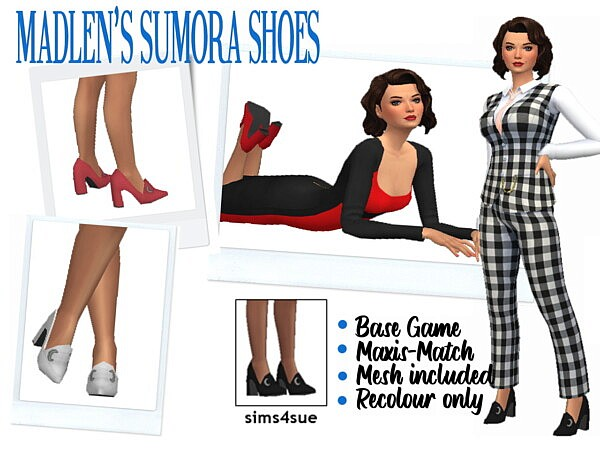 MADLEN'S SUMORA SHOES from Sims 4 Sue