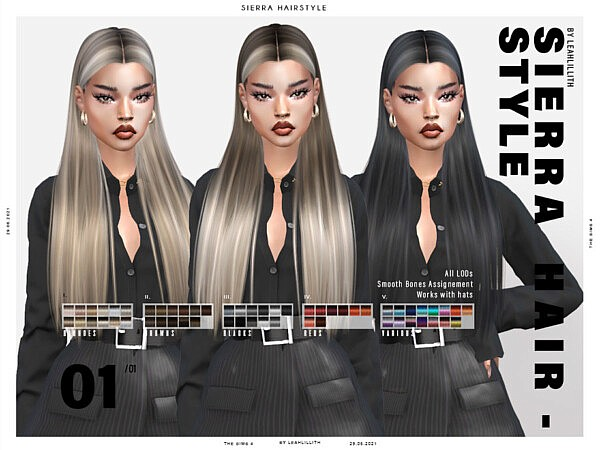 Sierra Hairstyle by LeahLillith from TSR