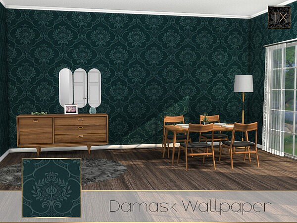 Damask Wallpaper TX by theeaax from TSR