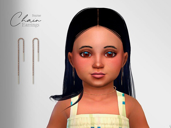 Chain Earrings Toddler by Suzue from TSR