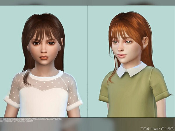 Child Hair G16C by DaisySims from TSR