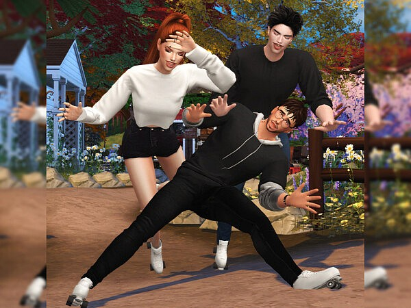 Afternoon of friends Pose pack by Beto ae0 from TSR