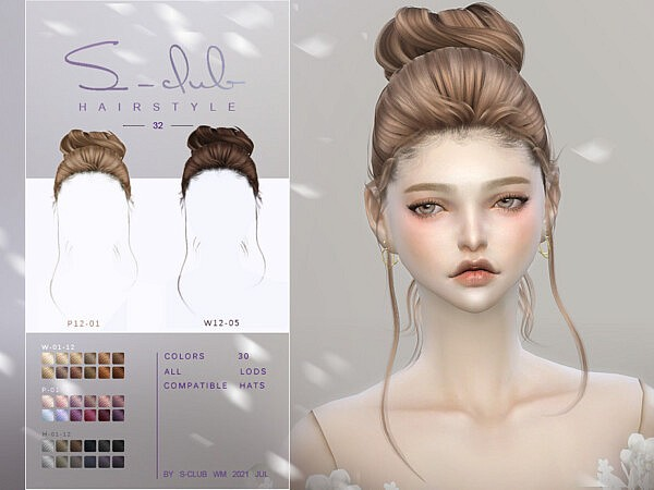 Cute hair bun MOKA by S Club from TSR