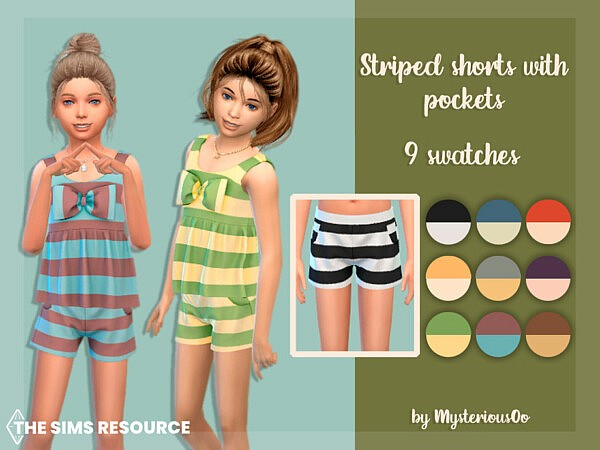 Striped shorts with pockets by MysteriousOo from TSR