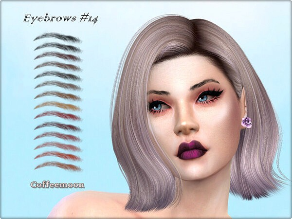 Subtle eyebrows N14 by coffeemoon from TSR