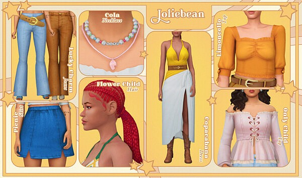 Summer Flow CC pack by Joliebean & Simstrouble