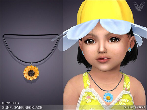 Sunflower Daisy Necklace Child by feyona from TSR
