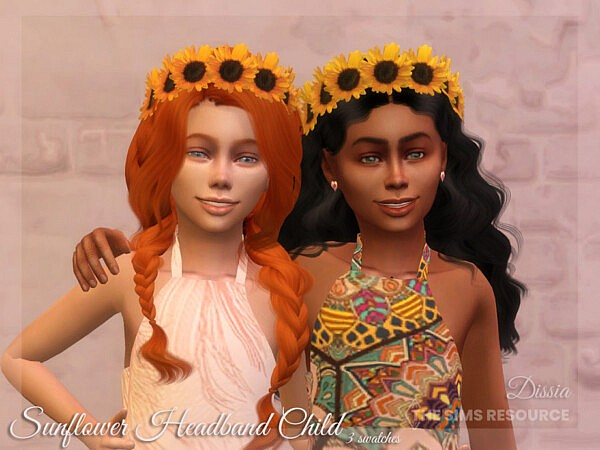 Sunflower Headband Child by Dissia from TSR