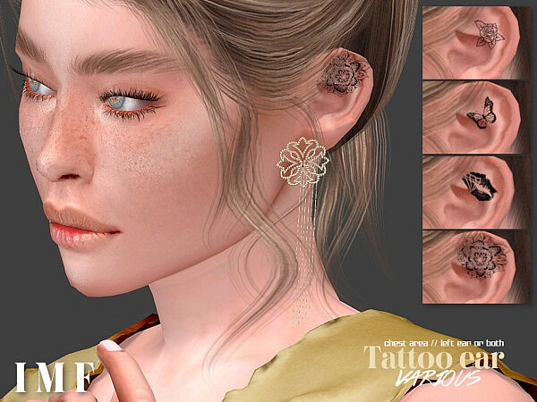 Tattoo Ears Various by IzzieMcFire from TSR