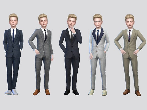 Theodore Formal Suit Boys by McLayneSims from TSR