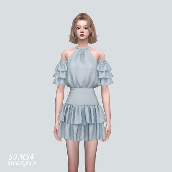 Tiered SB With 2 Frill S V2 from SIMS4 Marigold