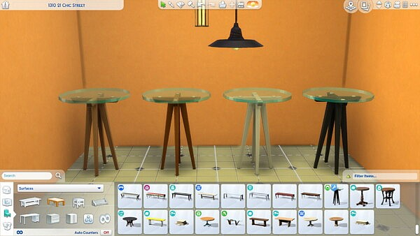 Tiny Living High Glass Table by FlamedWick from Mod The Sims