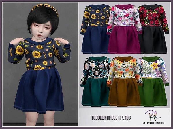 Toddler Dress RPL108 by RobertaPLobo from TSR